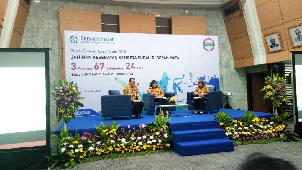 Bapak Fahmi Idris - Dirut BPJS membuka Publik Ekspos Awal Tahun 2018