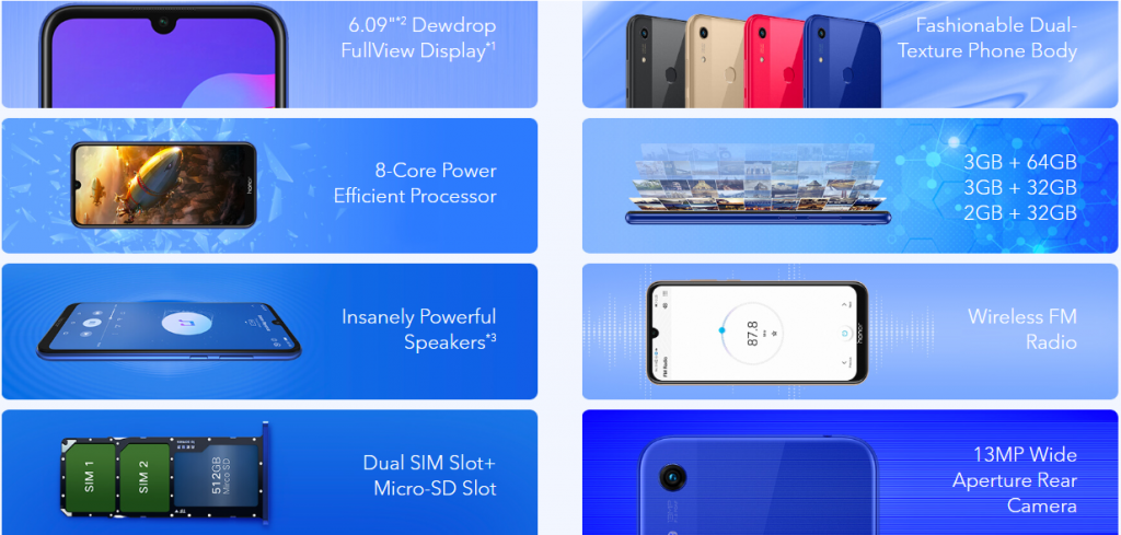 Honor 8A Indonesia - Fitur