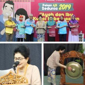 Menteri Kesehatan Nila F Moeloek Meresmikan Pembukaan Workshop Pekan Asi Sedunia 2019