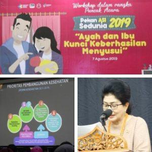 Menteri Kesehatan Nila F Moeloek - Workshop Pekan Asi Sedunia 2019