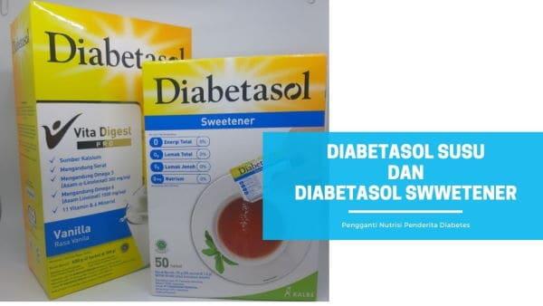 Susu Diabetasol dan Diabetasol Sweetener