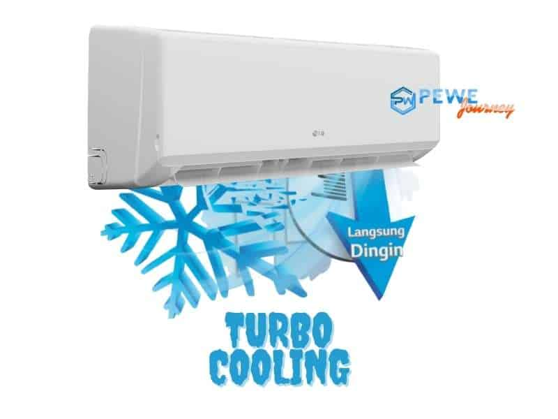Pendingin Udara AC LG New Hercules dengan Turbo Cooling